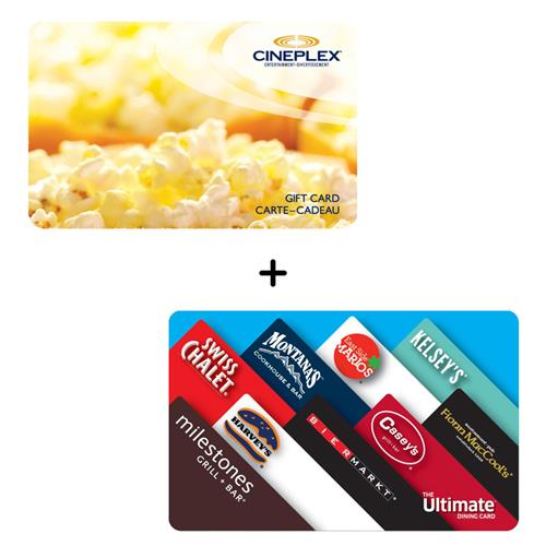 cineplex and cara ultimate dining card movie package details. Black Bedroom Furniture Sets. Home Design Ideas