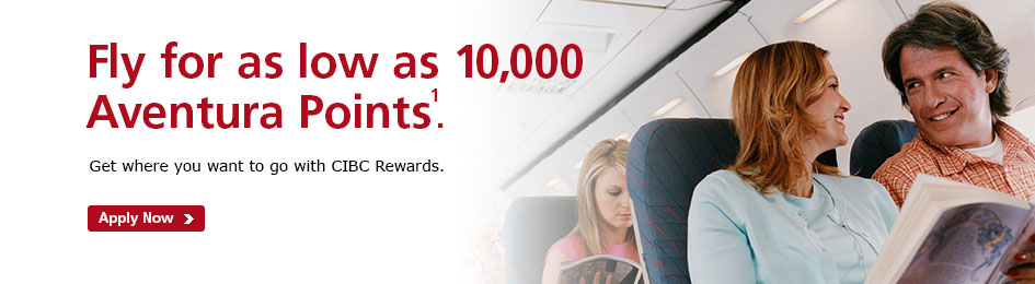Fly for as low as 10,000 Aventura Points!