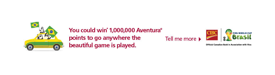 You could win 1,000,000 Aventura points to go anywhere the beautiful game is played