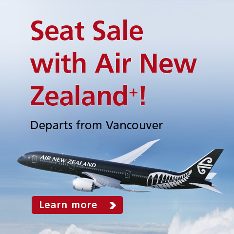Seat Sale with New Zealand